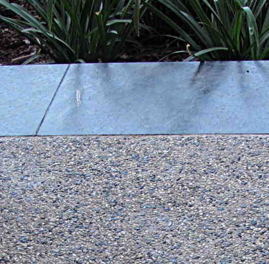 exposed aggregate - this is the idea for the drive way, but reversed..