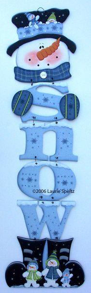 Muñeco de nieve con letras