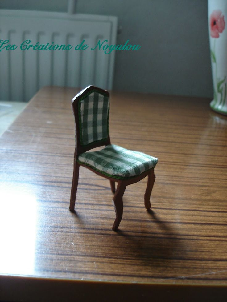 how to build miniature furniture. Template For Differently Constructed Miniature Dollhouse Chair How To Build Furniture