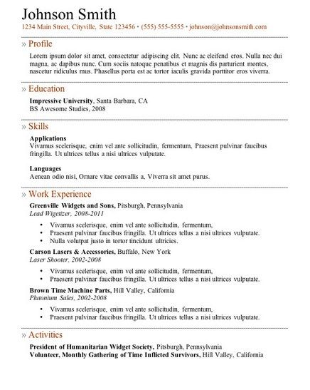 free online resume samples httpgetresumetemplateinfo3609free