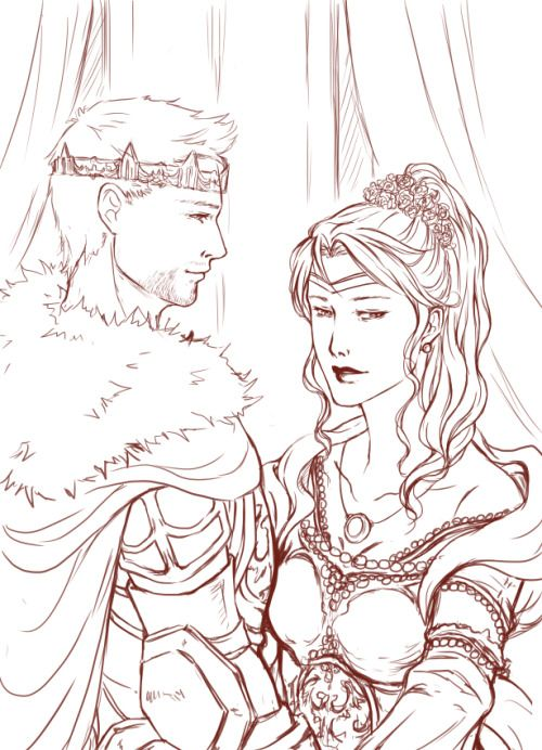 King Alistair and Queen Cousland. ❤️
