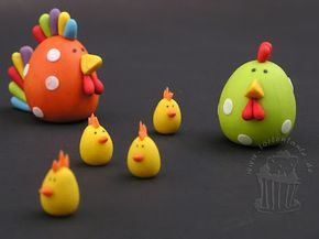 how to: cute fondant chickens