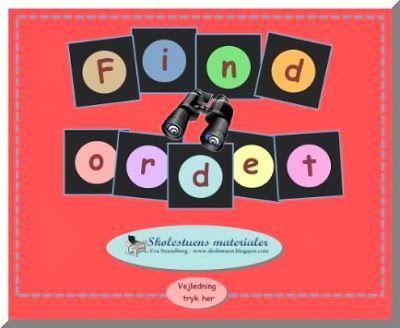 Skolestuen: Find ordet - En ny Smartboard-aktivitet fra Skolestuen - Til Dansk og Dansk som andetsprog