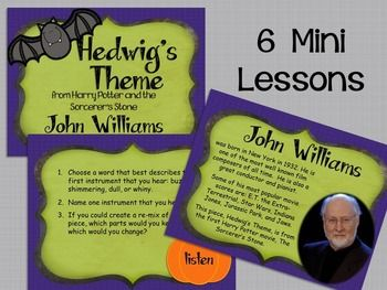 6 Mini Listening Lessons for Middle School Music! Spooky Songs