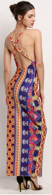 Fly Peace Backless Maxi Dress