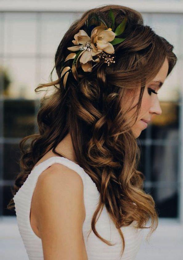 Bridal Hair Accessories Cork My Bridal Hair Half Up Half Down With Veil Casual Wedding Hair Long Hair Styles Bride Hairstyles