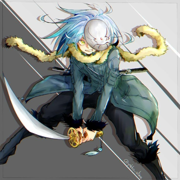 He (it?) considers himself (itself?) as a male though. Pin by Aika Nurka on 전생했더니슬라임이었던건에대하여 | Slime, Blue hair ...