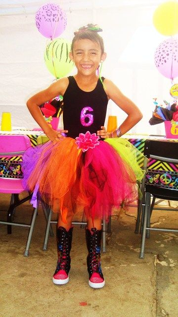 neon girls birthday party   Neon Doodle Groovy Rocker girl party / Birthday / Featured Photo: