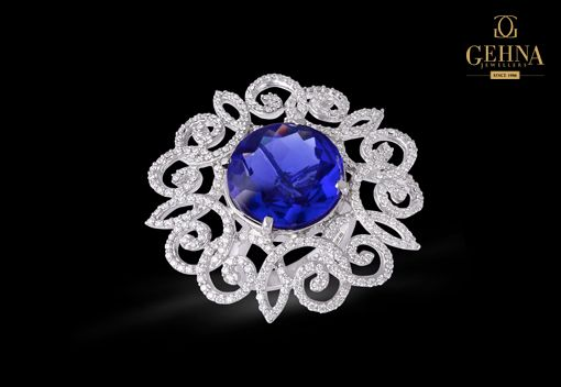 #Diamonds and #Sapphires are a match made in heaven! #jewellery #Gehna