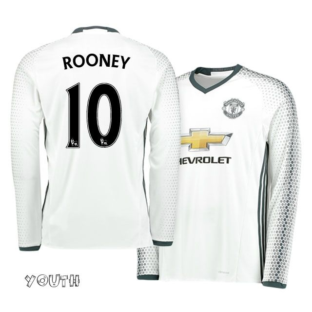 best service f01de 8f74f manchester united white long sleeve jersey