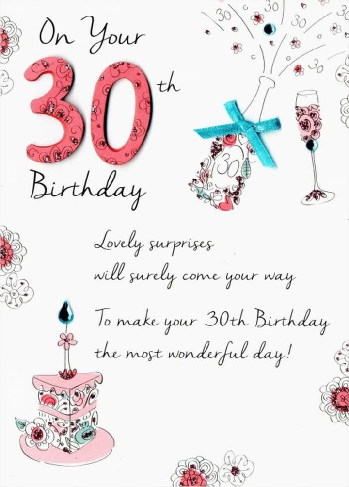 30th birthday cards for her