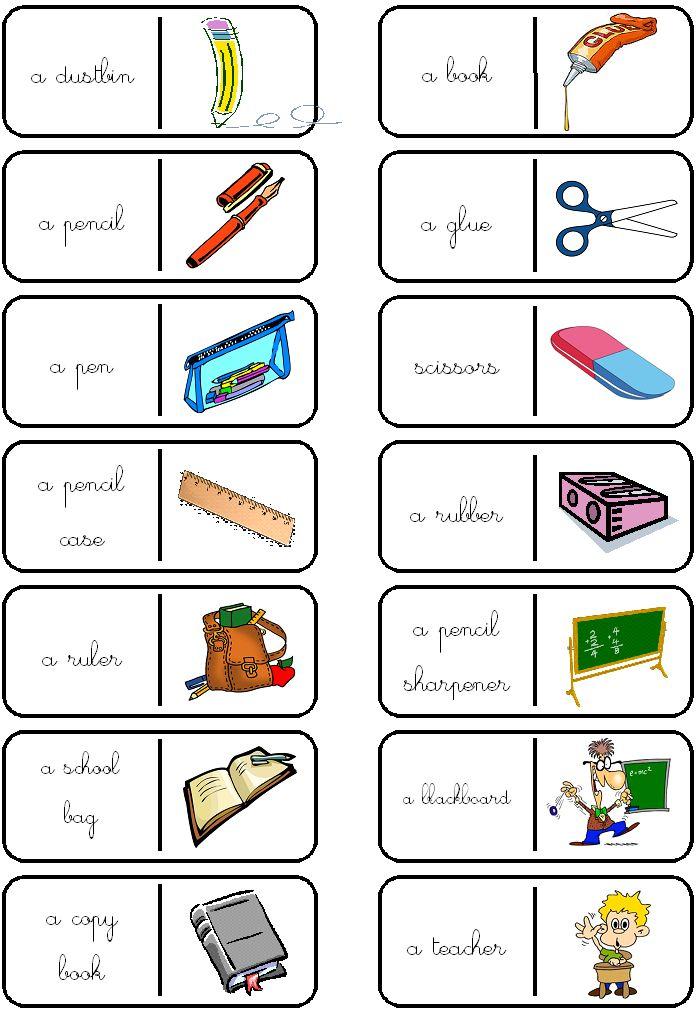 Bien connu Les 45 meilleures images du tableau ESL - Vocabulary - School sur  NU84