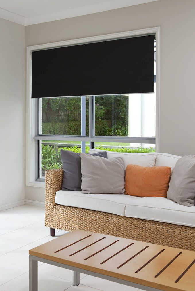 Roller Blinds Blockout - Sentosa Steel #blinds #home #decor