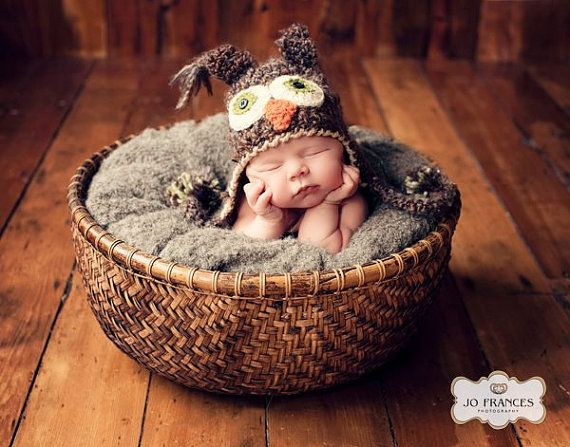 Brown Owl Hat  Baby Owl Hat  Cute and Soft by JojosBootique, $29.00