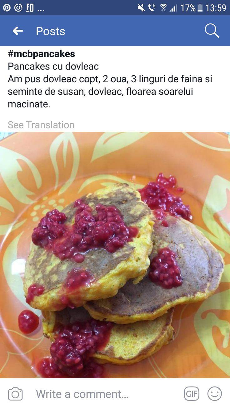 Pancakes cu dovleac copt: ou, faina