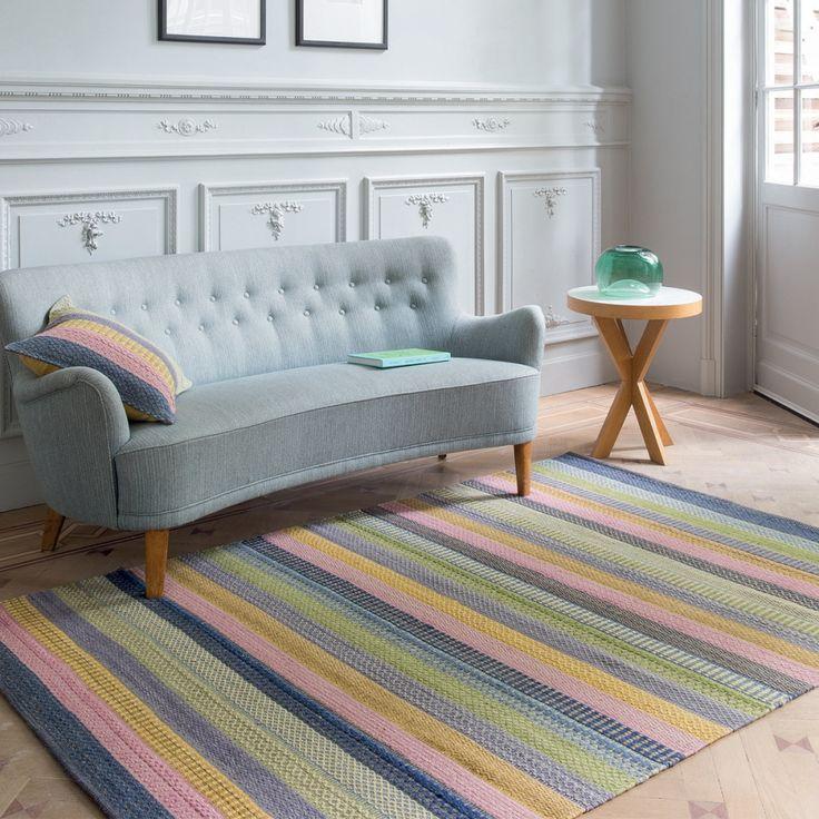 Tapis multicolore de prestige idéal pour votre salon ou votre chambre. 100%…