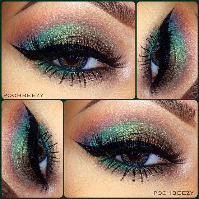 Olive Green eye look