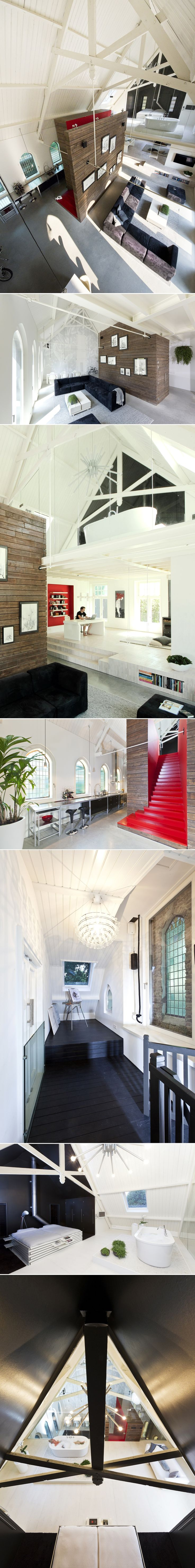 Church conversion in Haarlo the Netherlands by LKSVDD Architects
