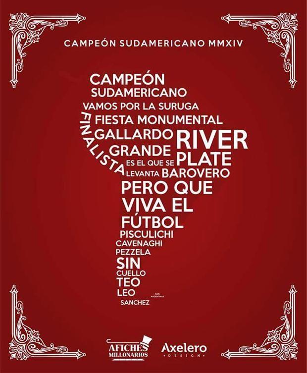 Los afiches de River campeón de la Sudamericana con dedicatoria a Boca
