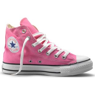 continue my tradition of a pair of high tops for every new year by taking some pink ones to college :)