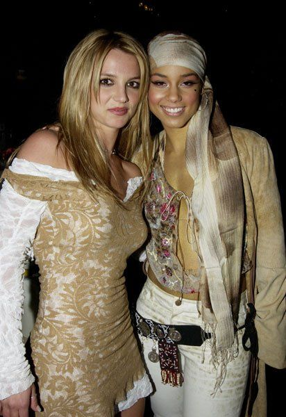 Memorable Outfits From the Grammy Awards | POPSUGAR Fashion Photo 40...2002 Britney Spears and Alicia Keys