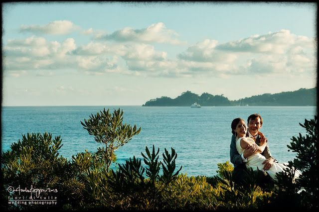 Fiori di Tulle Wedding Photography Blog: Maria Carla e Thibault - view from #Castello #Canevaro gardens: the #Portofino promontory #Italy #Wedding #photographer #italian #Riviera #Tigullio #fotografo #matrimonio #Zoagli