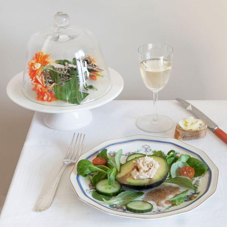 Avocado ripieno di insalata di granchio, La campana di vetro di Sylvia Plath