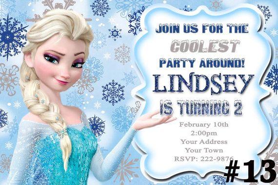 Disney Frozen Invitation Frozen Birthday Party by LetsPartyShoppe, $8.95