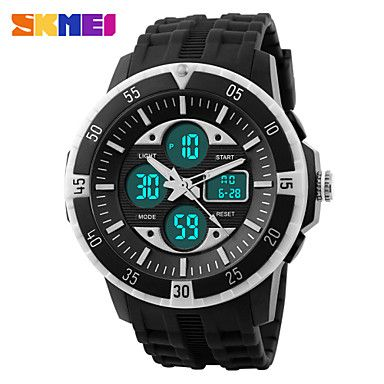 SKMEI®+Men's+Double+Time+Sporty+Watch+Calendar+Chronograph+Alarm+Cool+Watch+Unique+Watch+Fashion+Watch+–+USD+$+12.99