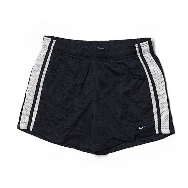 Pre-owned Nike Athletic Shorts Size 8: Dark Blue Women's Activewear ($15) ❤ liked on Polyvore featuring activewear, activewear shorts, dark blue, nike activewear, nike sportswear and nike