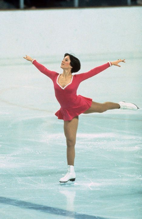 Best Olympic Ice Skating Costume: Dorothy Hamill, 1976 Dorothy's wedge haircut may have received all the attention, but we think her simple pink dress was actually kinda great.