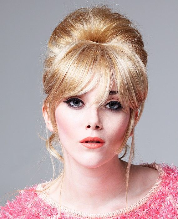 60's updo!! Steven Goldsworthy for Balmain Hair