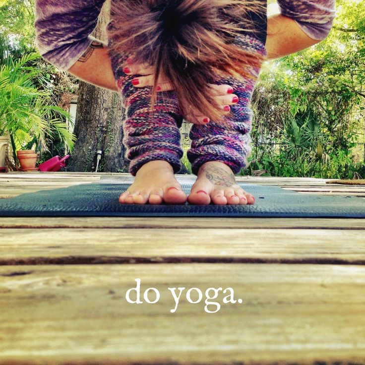 Do yoga. Do it often enough until the yoga does you. I am aiming to make it to at least one yoga class per week and practice yoga at home as well #lornajane #myactiveyear