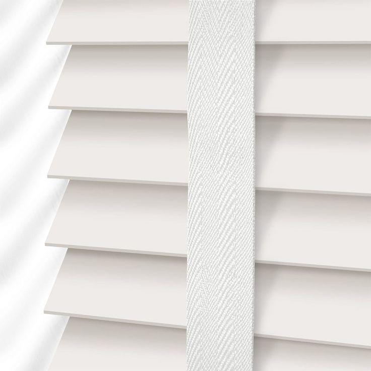 Soft White & Linen Wooden Blind - 50mm Slat