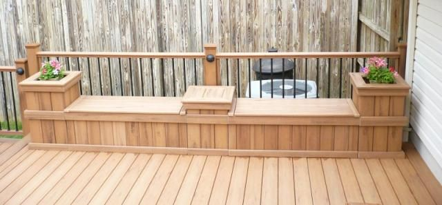 Composite Deck With Matching Rails Bench And Planters