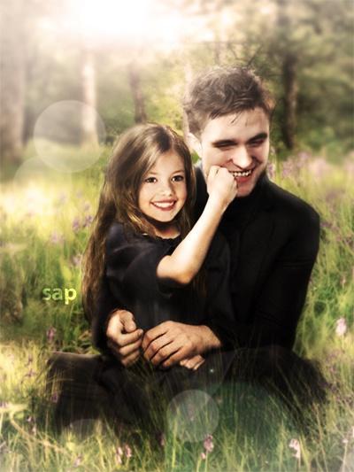 Edward & Renesmee probability fan made but still cute ...