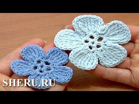 http://sheru.ru Во второй части нашего урока мы так же выполним плоский цветочек с лепестками из сложных или комплексных столбиков. Этот вязанный цветок так ...