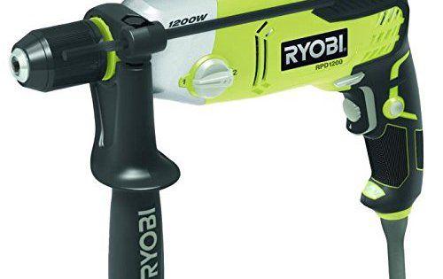 Ryobi RPD1200K Perceuse à Percussion Électrique à fil 1200 W Mandrin à Clé: Moteur puissant. Poignée gripzone alvéolée. Variateur de…