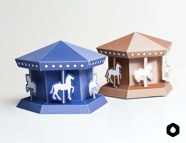 Carrousel paper toy - DIY + free printable