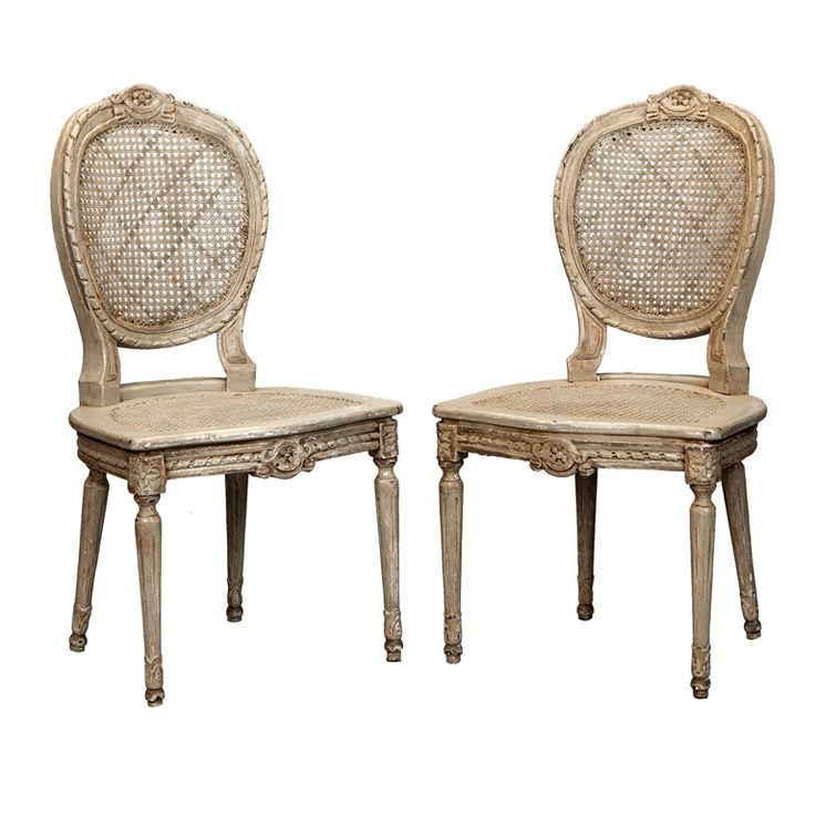 View This Item And Discover Similar Side Chairs For Sale At   Circa Set Of  Six French Carved Painted Wood And Cane Chairs. Chairs Feature Caned Oval  Seat ...
