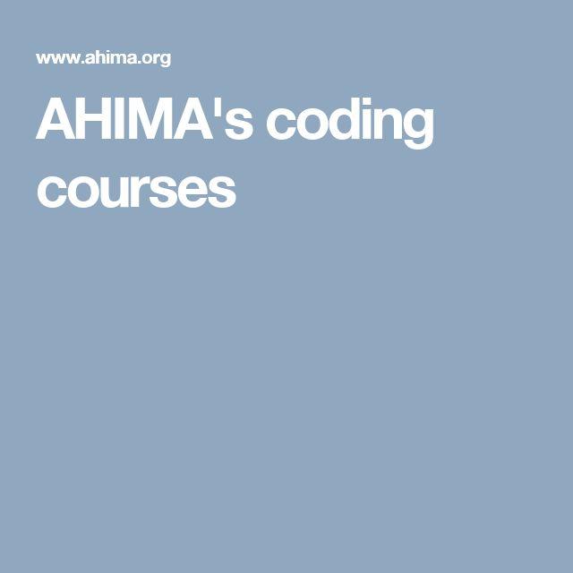 AHIMA's coding courses