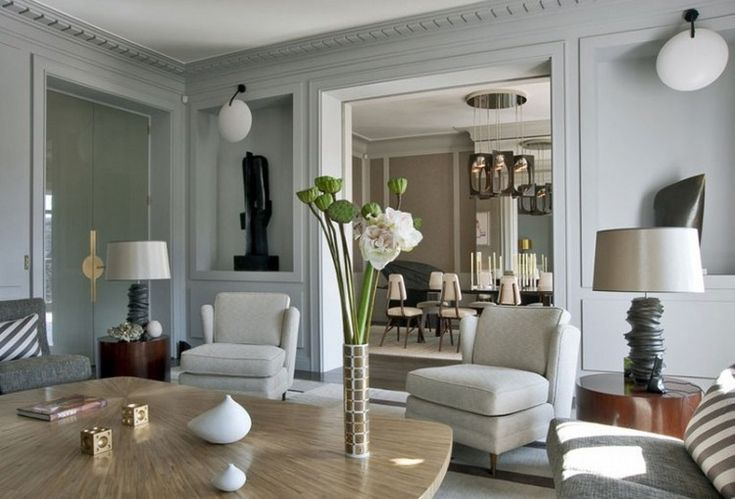 Home Inspiration Ideas - Paris luxury apartments by @jeanlouisdeniot - an ode to gray in this living room color scheme  / More at http://homeinspirationideas.net/room-inspiration-ideas/home-inspiration-ideas-12-show-stopping-luxury-paris-apartments