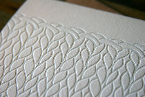 Poppytalk - The beautiful, the decayed and the handmade: Knitted Letterpress