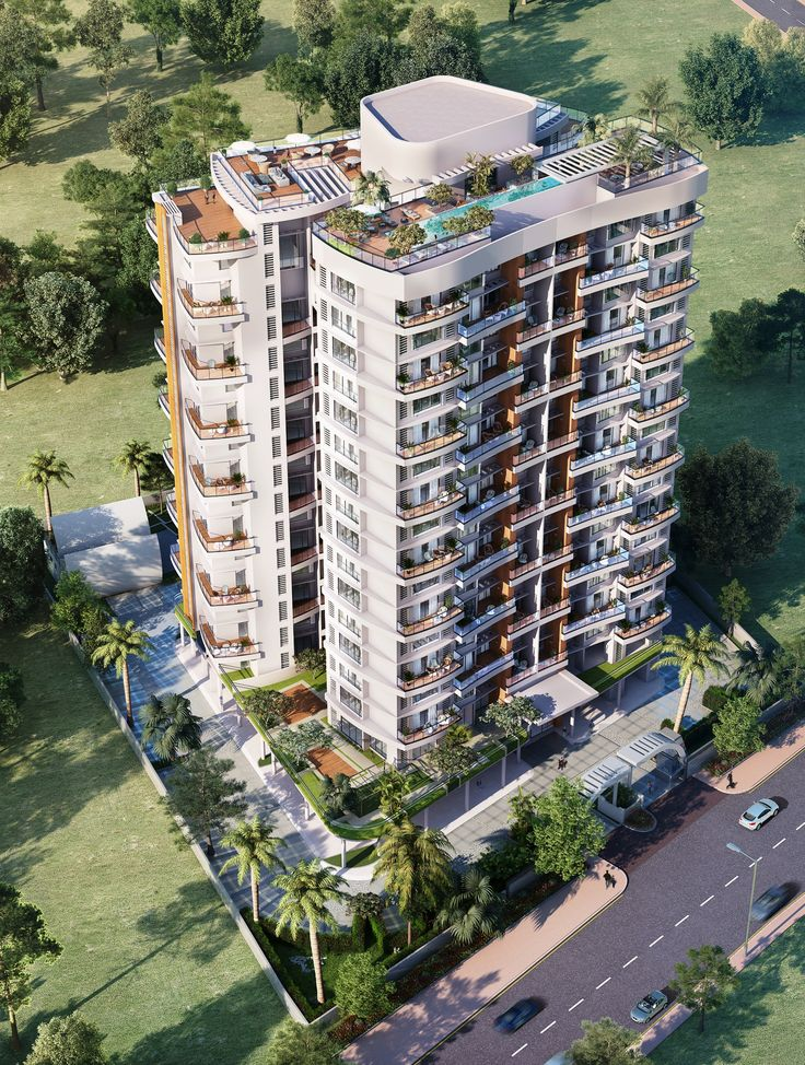 Supreme Amadore building elevation. A 17 storey edifice of architectural excellence.