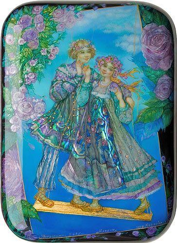 Alla Kozlova, Fedoskino lacquer box, Love, 2007