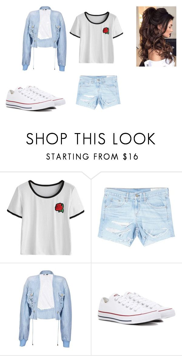 """""""roses"""" by lola2bravo on Polyvore featuring rag & bone/JEAN, Balmain and Converse"""