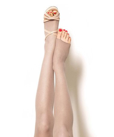 This Gray Mist Control-Top Toeless Pantyhose - Plus Too is perfect! #zulilyfinds