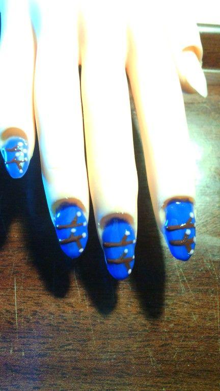 Probeersel :) #kersenbloesem nagels
