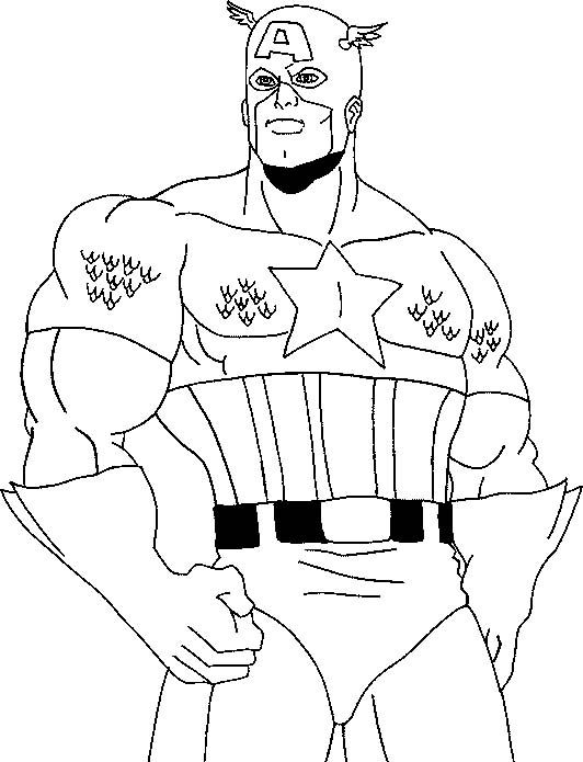 superhero coloring pages captain america - photo#26