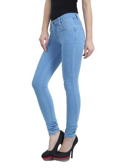 Women /girl/Stretchable Light Blue Slimfit Jeans For Waist 28  to 40